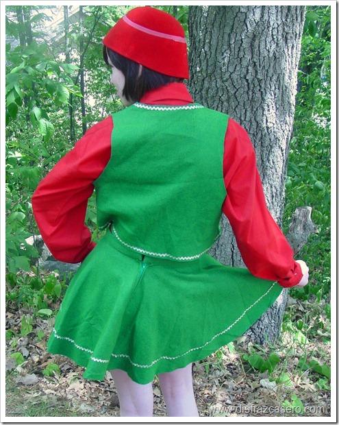 disfraz de elfo para niña disfrazcasero.com