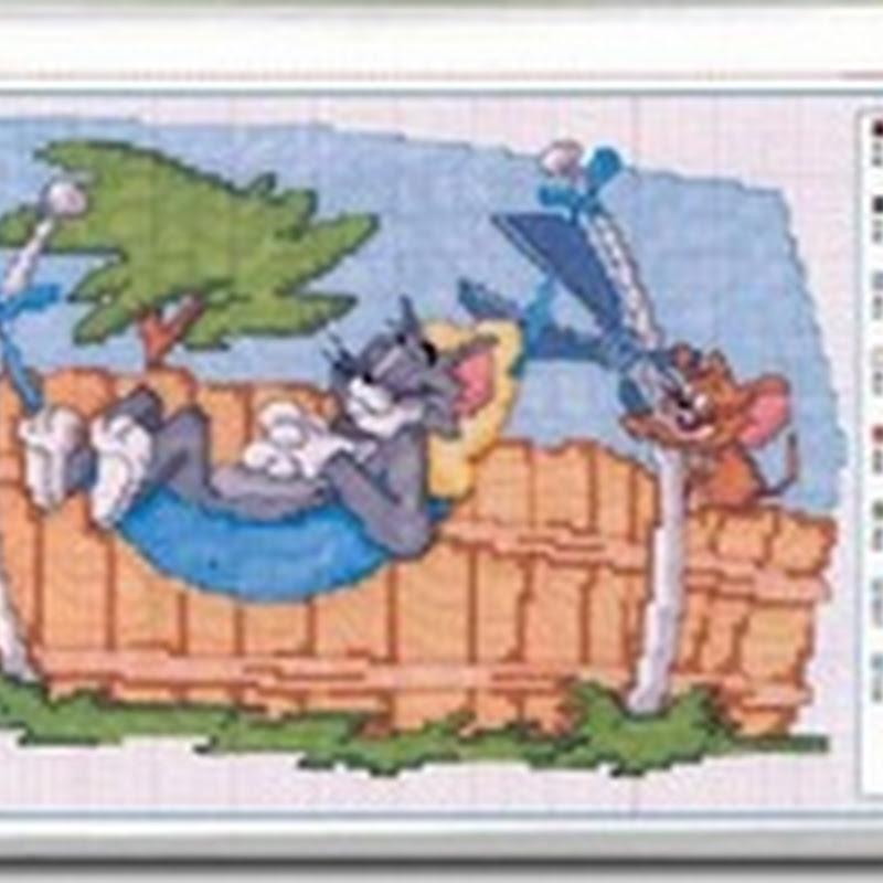 punto de cruz esquemas infantiles, Mickey, winnie, tres cerditos, etc