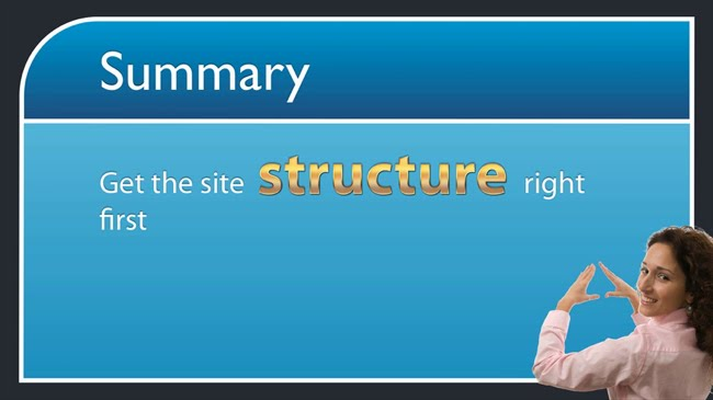 Get the site structure right first