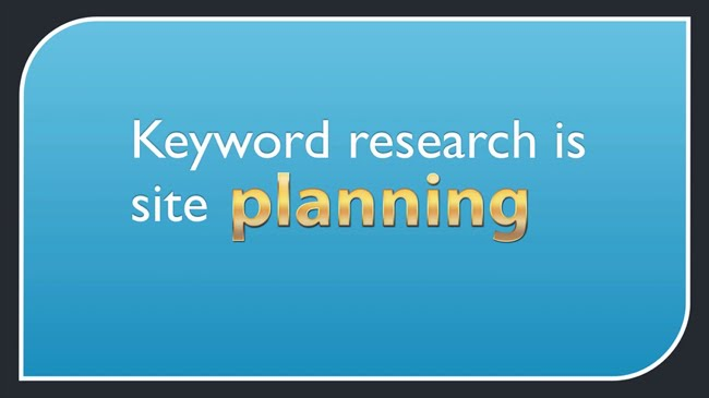 Keyword research is site planning