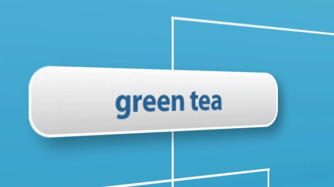 Tea links to the green tea category page
