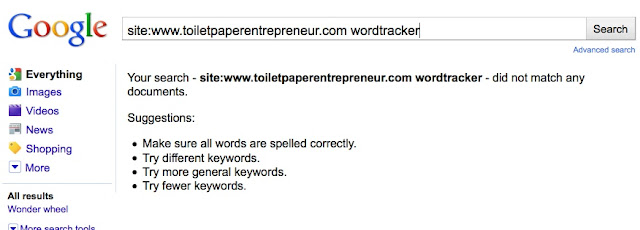 15 Toilet paper entrepeneur Wordtracker