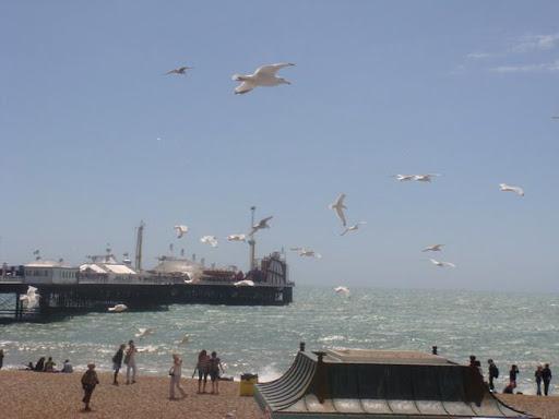 A praia de Brighton