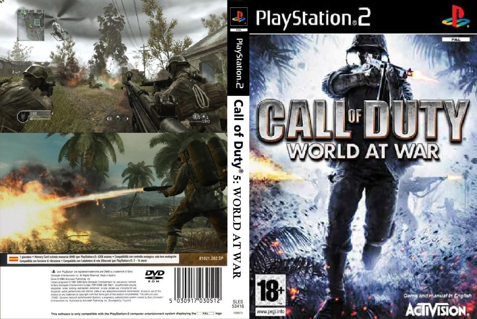 call of duty world at war ps2