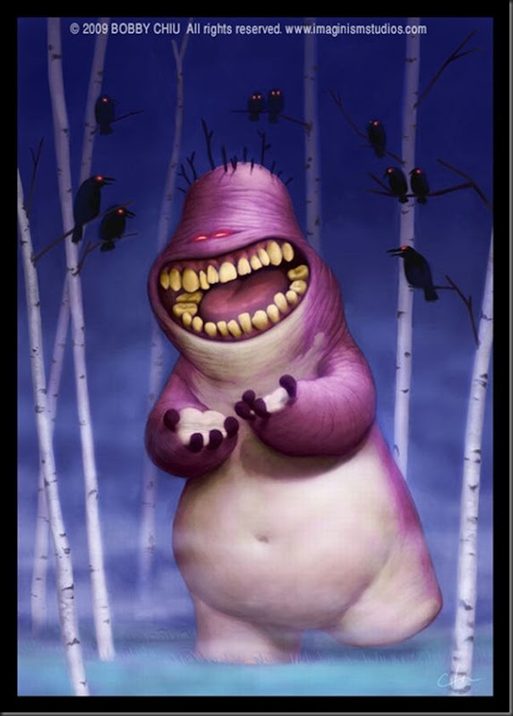 Criaturas divertidas em 3D (18)