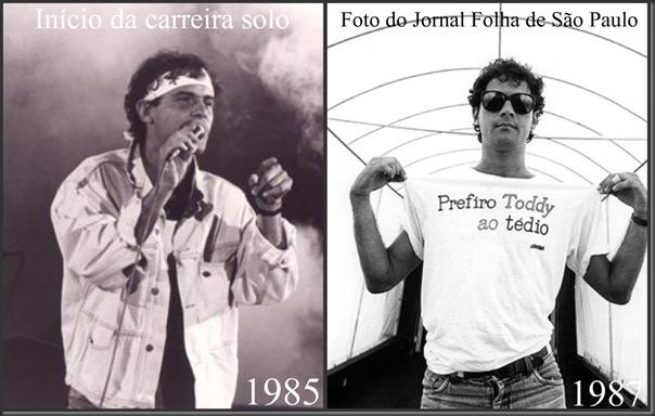 Início da carreira solo e Foto do Jornal Folha de São Paulo 1987
