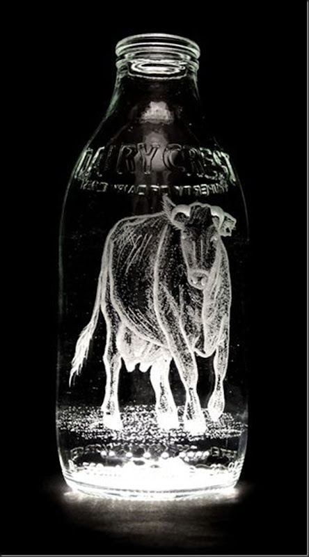 Arte na garrafa de leite por Charlotte Hughes-Martin (8)
