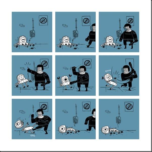 O triste fim de um robo