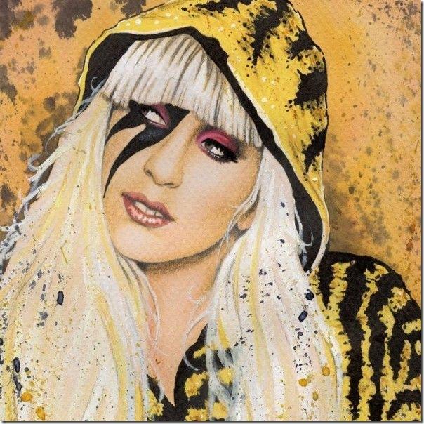 50 desenhos feitos por fãs de Lady Gaga (18)