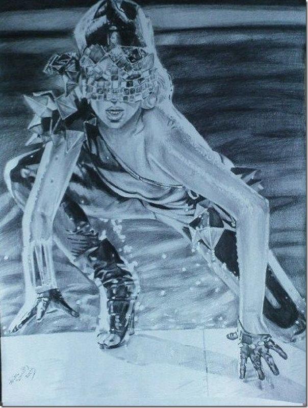 50 desenhos feitos por fãs de Lady Gaga (42)