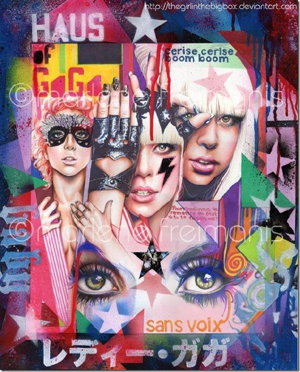 50 desenhos feitos por fãs de Lady Gaga (9)