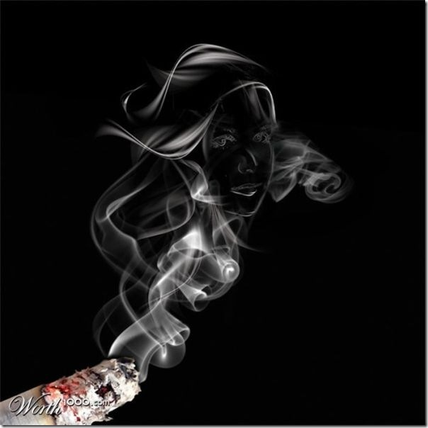 A bela arte feita com a fumaça (2)