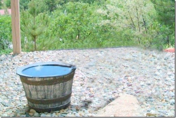 Por que o barril de água sempre está vazio