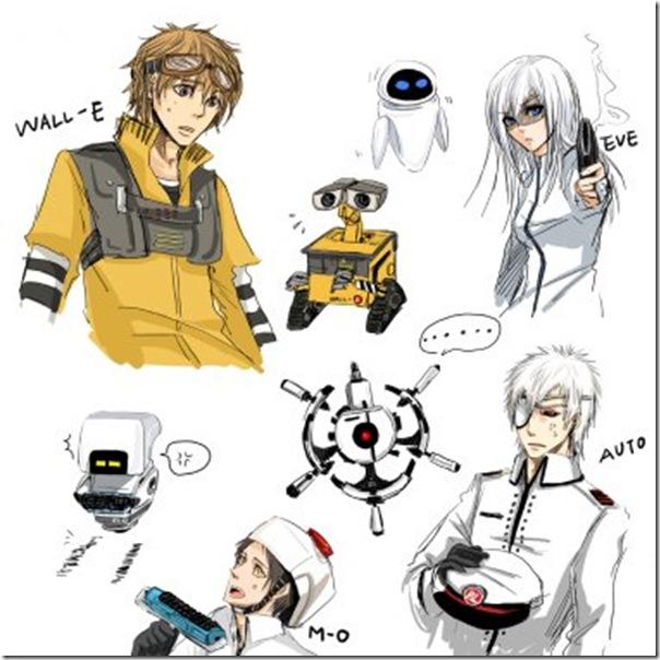 Personagens de Walle em forma humana