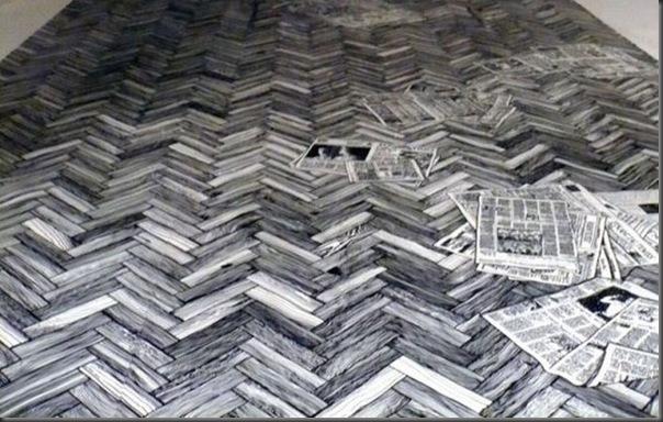 Arte em preto e branco com marcador em parede (7)