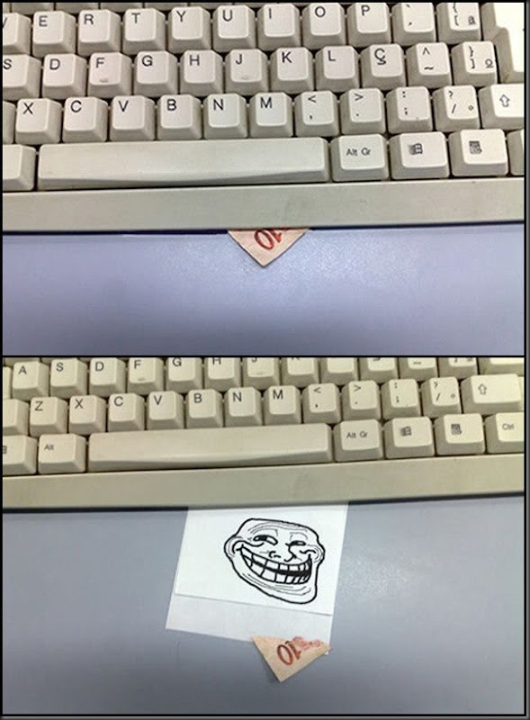 como trollar seu amigo no escritorio