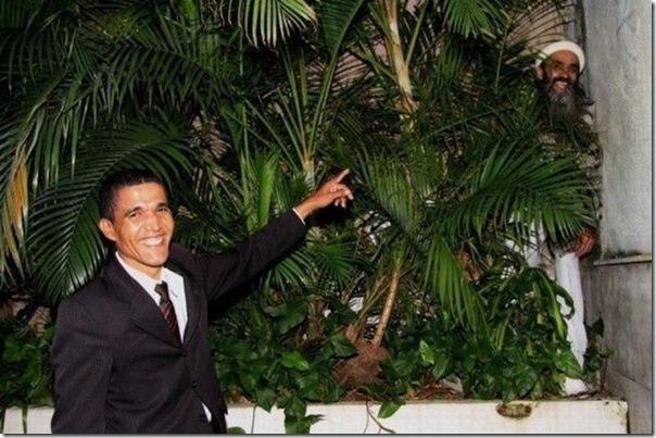 Foto inédita de Obama e Osama