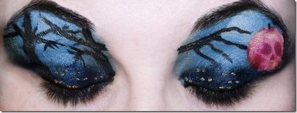 Linda maquiagem nos olhos em forma de sombra (2)