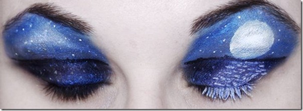 Linda maquiagem nos olhos em forma de sombra (10)
