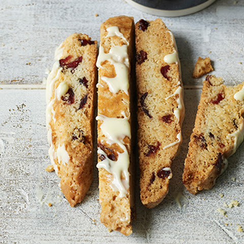 Dried Cranberry and White Chocolate Biscotti