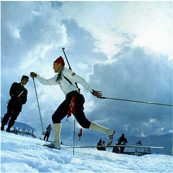 The skier in Grenoble