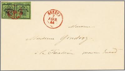 Double de Genève sur lettre
