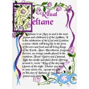 Beltane Pagan Ritual Of Interest To Neo Pagans Cover