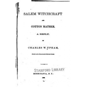 Salem Witchcraft And Cotton Mather A Reply Cover