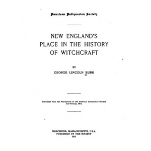 New England Place In The History Of Witchcraft Cover