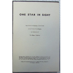 Liber 489 One Star In Sight Cover