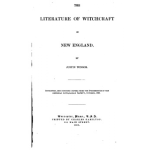 The Literature Of Witchcraft In New England Cover
