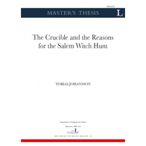 The Crucible And The Reasons For The Salem Witch Hunt Cover