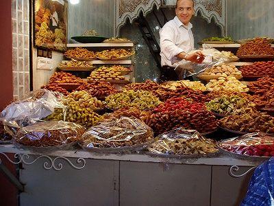マラケッシュのスーク-モロッコの旅行記