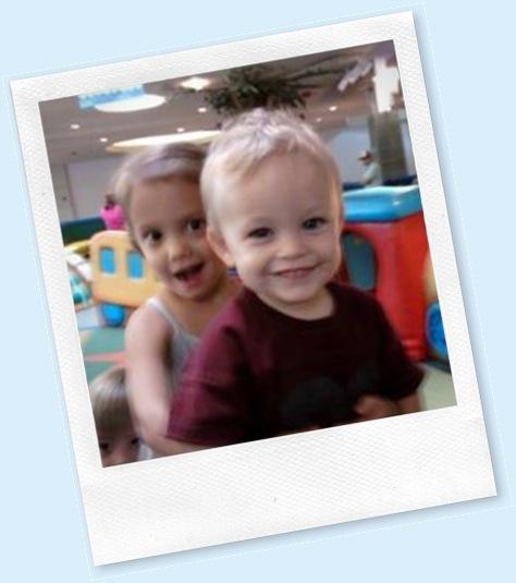 sav and carter at mall playground