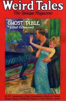 a capa da Weird Tales que trazia o conto de CThulhu