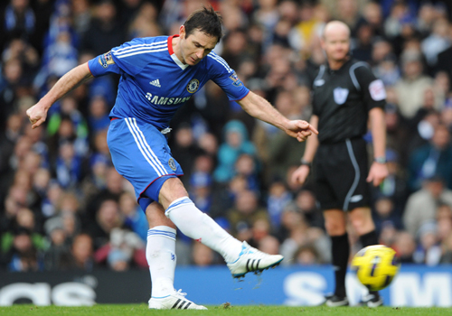 Frank Lampard try his Penalty Kick, Chelsea - Aston Villa