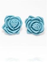 Blue Rose Earrings