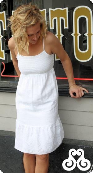Smocked Linen Dress