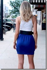 Mink Pink Cobalt Skirt B