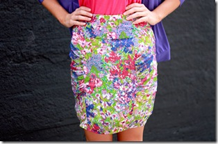 MM Couture Floral Skirt CU