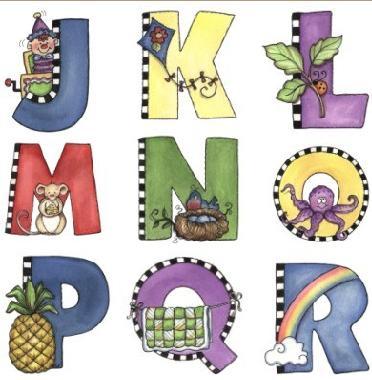 Moldes de letras y numeros - Letras decoradas infantiles ...