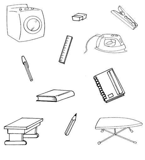 Dibujos para colorear los utiles de aseo - Imagui
