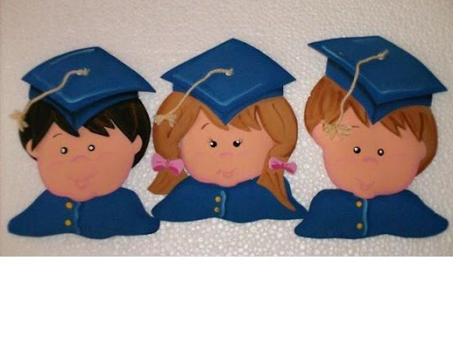 Ni#os graduados en foami - Imagui