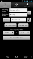 Screenshot of Train Schedules of Sri Lanka
