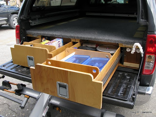 Latest project truck drawers sleeping platform expedition portal - Homemade truck bed storage ...