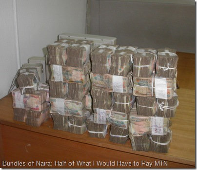 Bundles of Naira