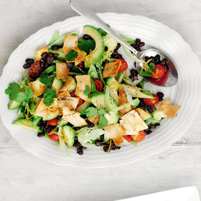 Mexican Salad With Tortilla Croutons
