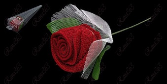 red-towel-shape-rose-flower-with-white-mesh-wraped-wedding-decoration-xs0058090402c