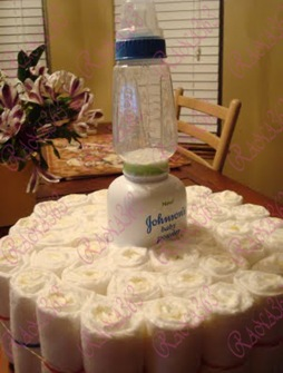 Diaper Cake Tutorial 008