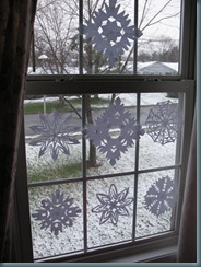 snowflakes dark inside